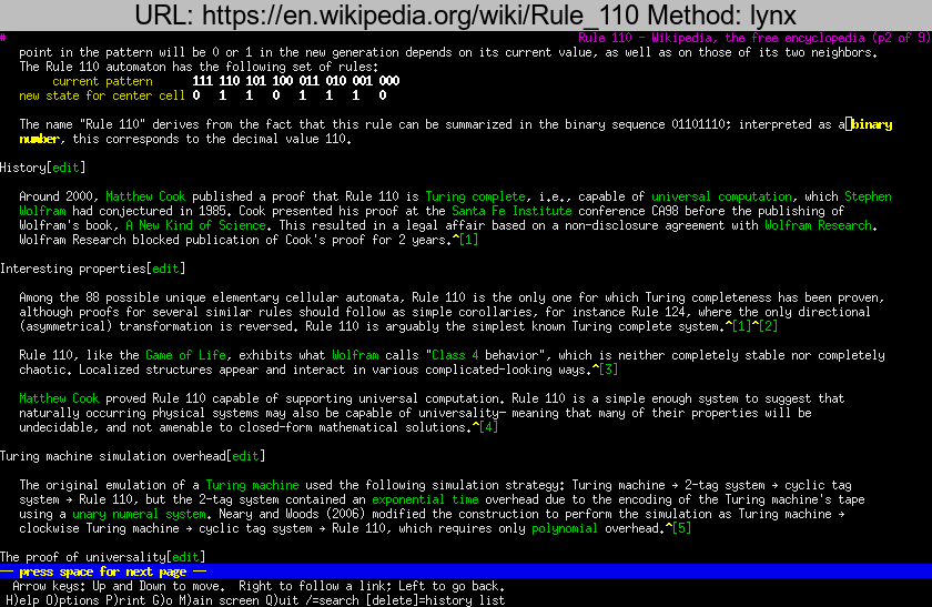 https://en.wikipedia.org/wiki/Rule\_110 rendered using lynx