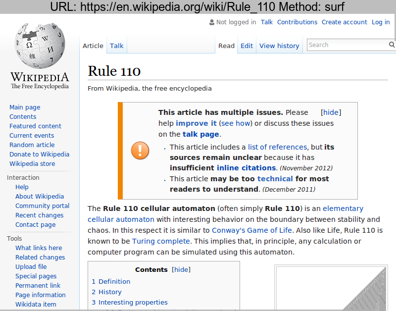 https://en.wikipedia.org/wiki/Rule\_110 rendered using Original \(surf\)