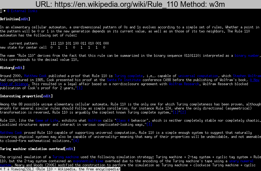 https://en.wikipedia.org/wiki/Rule\_110 rendered using w3m